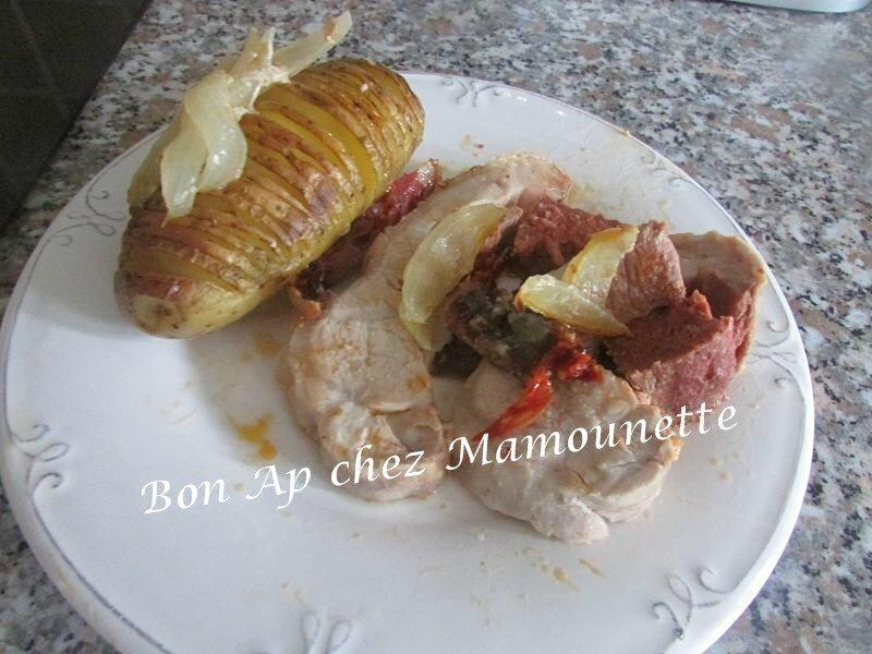 rôti de porc au chorizo et sa pomme de terre entaillée 004