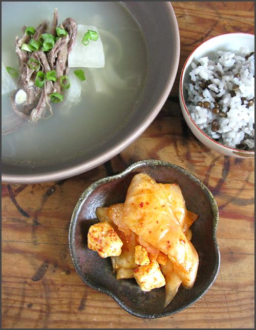 Kimchi feta soupe radis