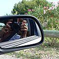 reflet sur la route