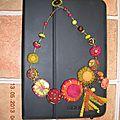 59- Réalisation d'un collier en perles brodées