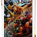 Crevettes, pamplemousse de floride, carottes,cranberries séchées, grenade.......
