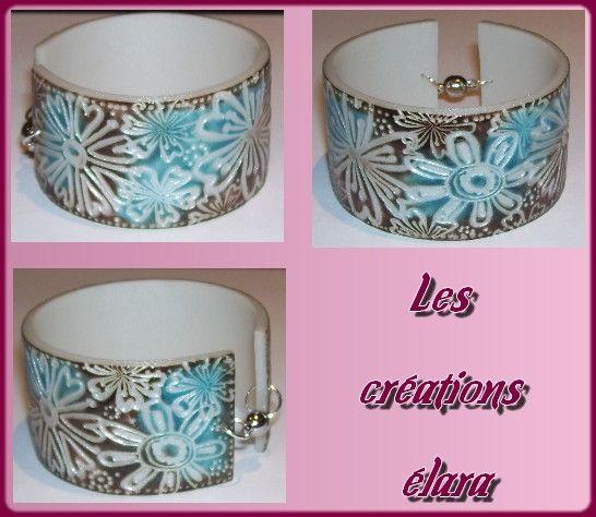 bracelet esclave turquoise marron