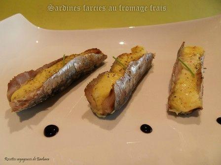 Sardines farcies au fromage frais recettes voyageuses de barbara - Sardines au four sans odeur ...