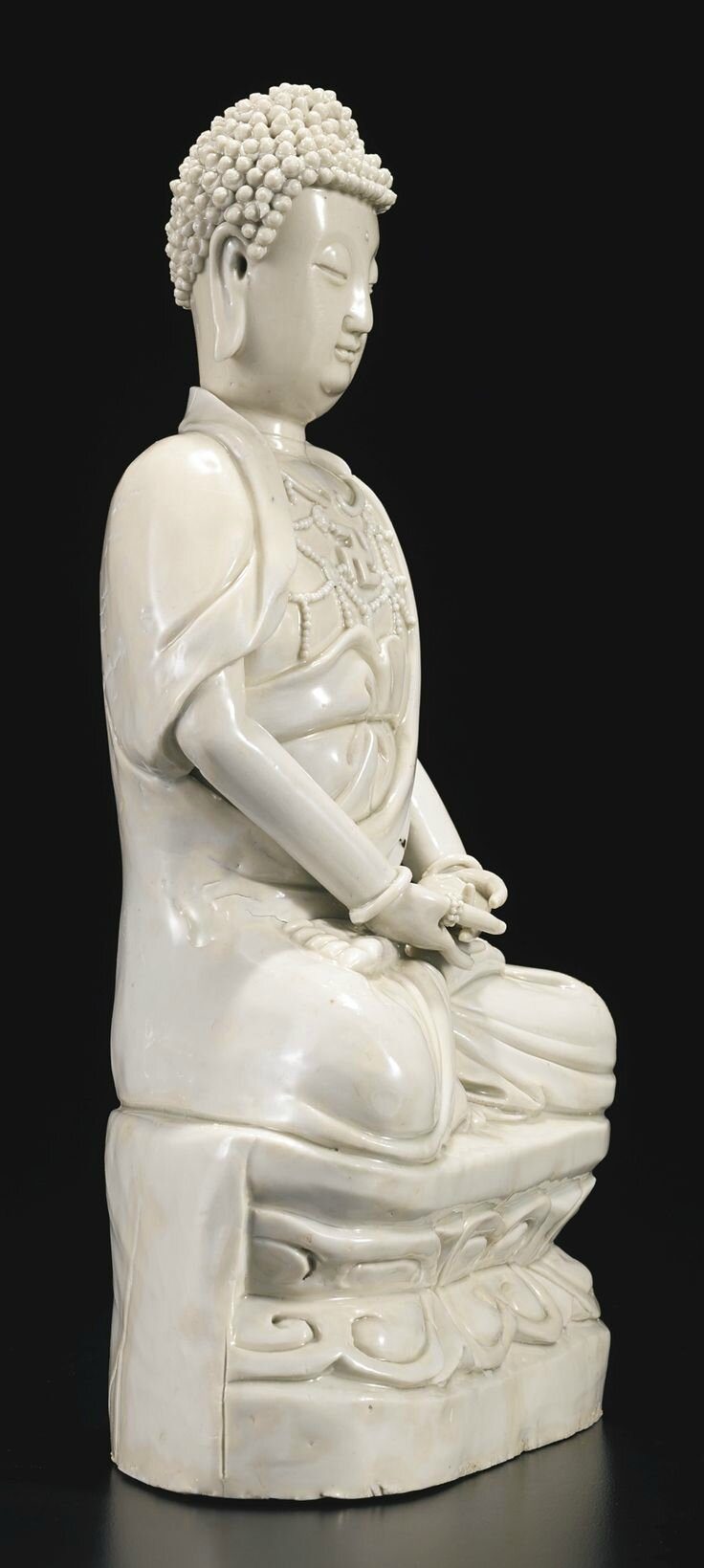 A Dehua figure of Buddha, China, Qing dynasty, 17th-18th century