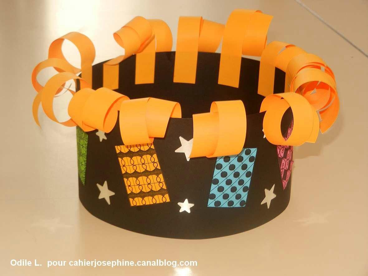 Fabriquer couronne bricolage ecole maternelle galette des rois - Couronne de roi a fabriquer ...