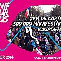 Magnifique succes des manifs europeennes