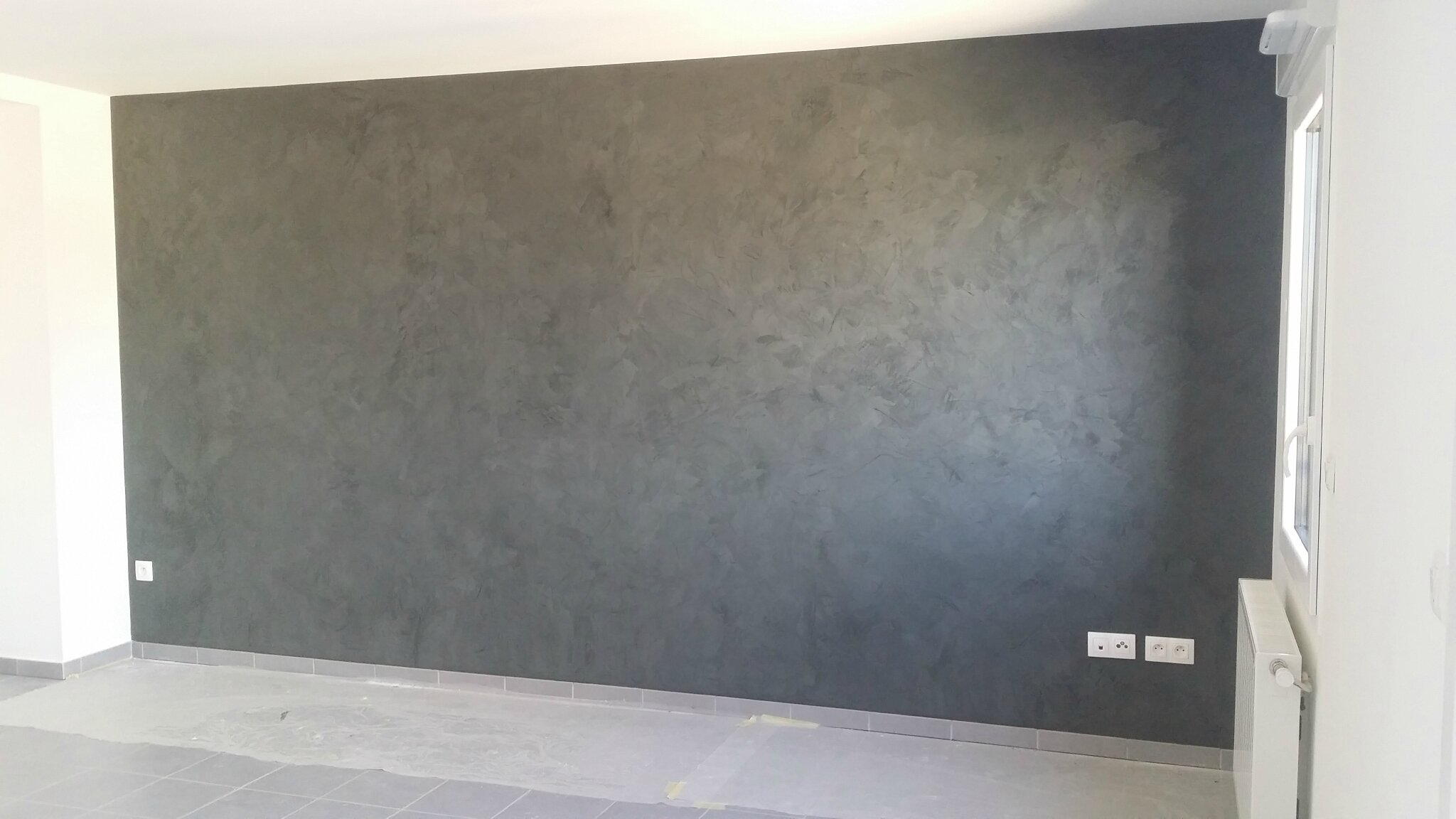 Stucco baldrini gris anthracite innov 39 d co - Stucco peinture video ...