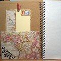 carnet de voyages, 1ère page intérieure avec signet