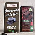 Chocolats noirs bio