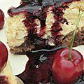Un cheesecake cerise et fleur de sureau pour la fête des voisins !