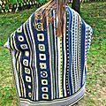 Couverture/plaid au crochet