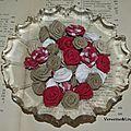 Roses de tissu