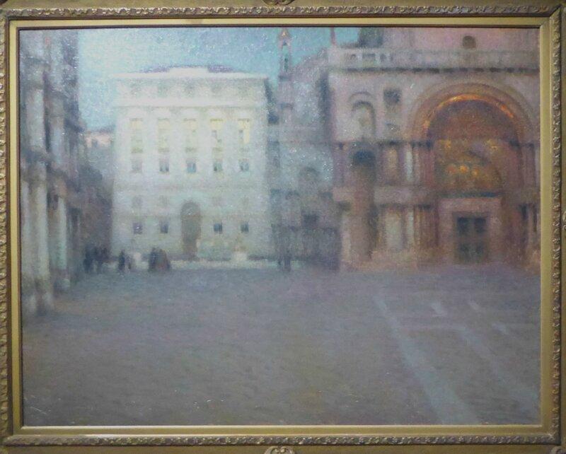 Henri Le Sidanet La Place Saint-Marc au crépuscule 1907