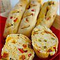 Baguettes apéritives au chorizo et aux poivrons