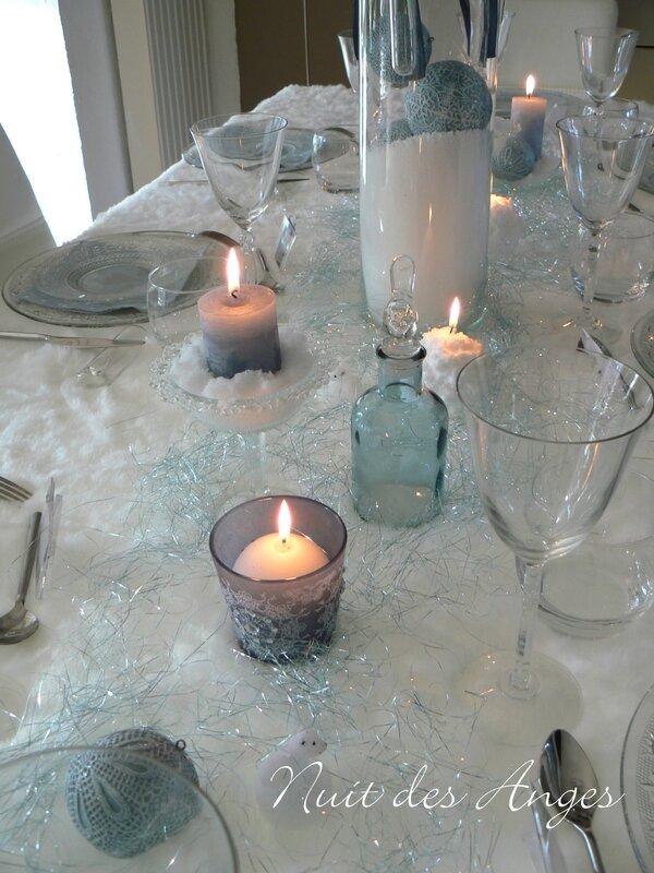 Nuit des anges décoration de table bleue 009