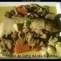 Poulet au curry et ses légumes