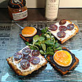 Battle de tartines : maréchal fraîcheur ou toasts de pain d'épices olivade-chèvre-courge