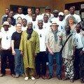 Quelques membres de l'ARACEM en compagnie des amis lors des journées organisées par l'A.M.E