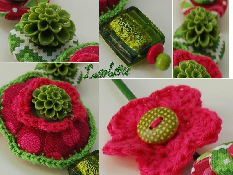Sans titre 4collier fleur rose