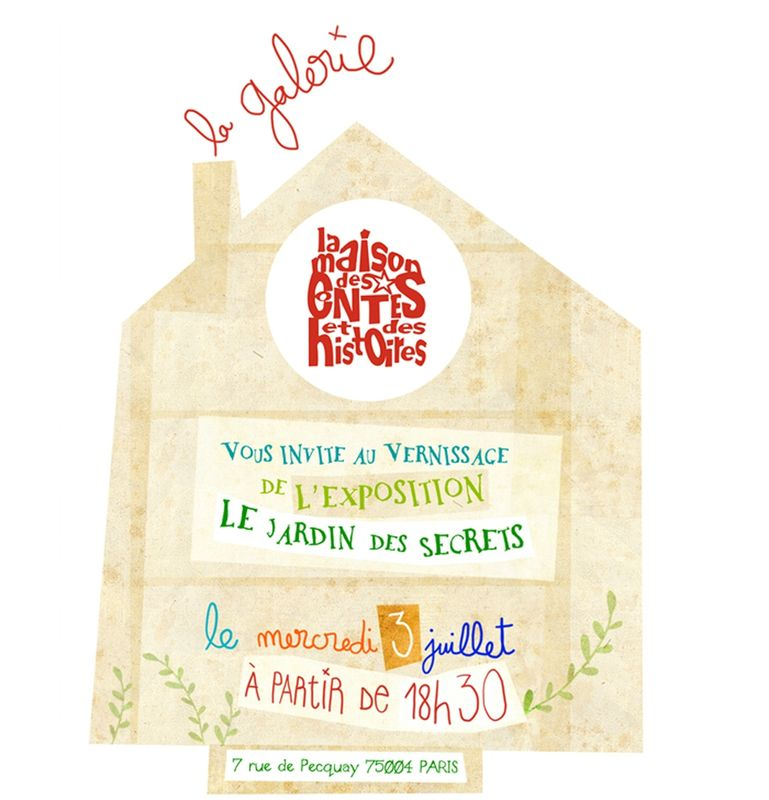 invitation vernissage maison galerie