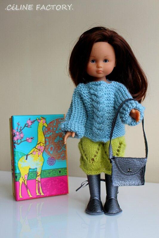 Chérie - Pull et jupe en laine 4