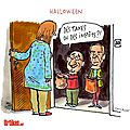 hollande ps humour impot epargne halloween