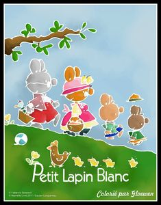 Dessin simple - Lapins colories gloewen blanc