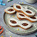 Biscuits sablés {chocolat & noisette} #carnaval