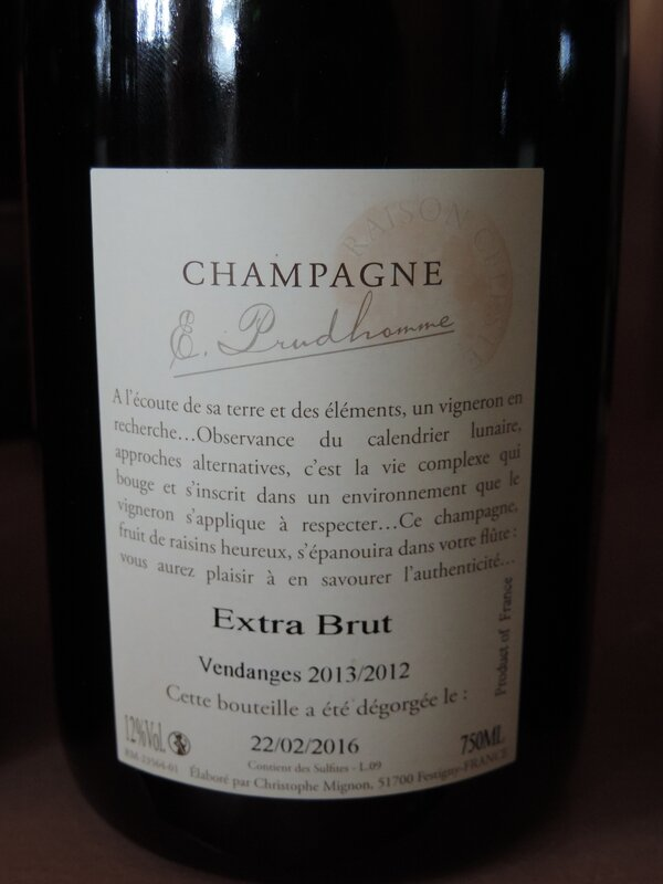 prudhomme extra brut