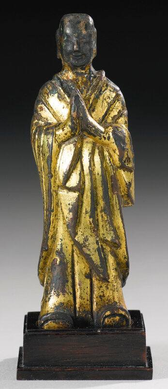 A gilt-bronze figure of Ananda, Northern Wei dynasty (386-534)6