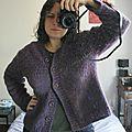 Gilet violet !