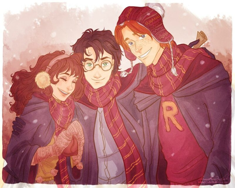 Hermione Harry et Ron Poudlard