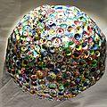 Hervé THAREL SCHMIMBLOCK'S erda 2015 - acrylique sur argile Ø ± 30cm 34
