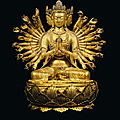 A rare and finely cast gilt-bronze figure of avalokiteshvara, 17th-18th century