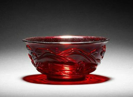A ruby red glass bowl. Qianlong four-character incised mark © 2002-2010 Bonhams 1793 Ltd