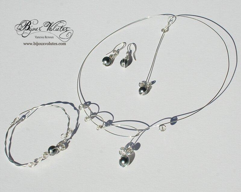 confrontare il prezzo comprare a buon mercato brillantezza del colore Parure de bijoux de mariage originale et fin avec perles ...
