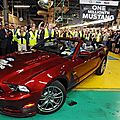 Un million de ford mustang issues de l'usine de flat rock (cpa)