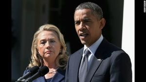 Barack Obama and Hillary Clinton, White House sept 12 2012