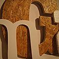 Lettres-découpe plexi-bois-sagex