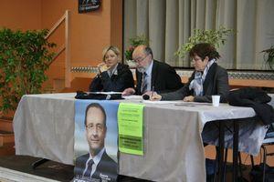 Gérard Dieudionné socialiste DVG Delphine Mesnildrey Geneviève Couraud Granville législatives meeting 2012