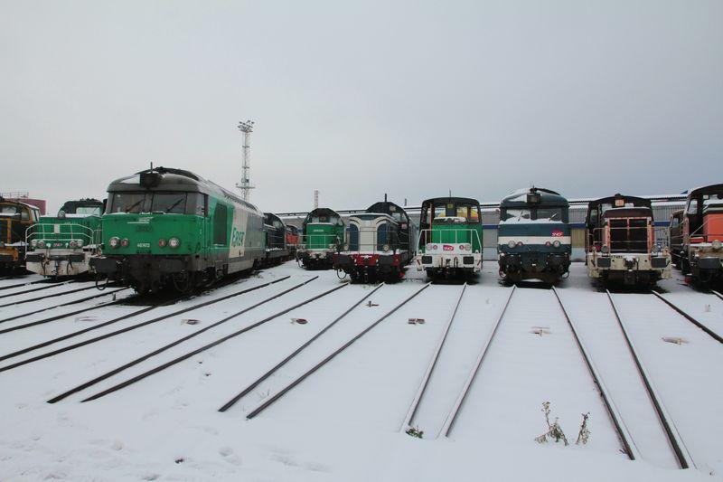 Dépôt de Bordeaux sous la neige (février 2012)