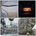 Neige en octobre, en normandie