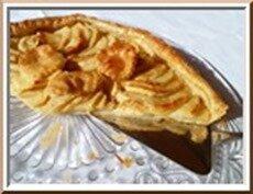0160s - tarte aux pommes sur pâte feuilletée