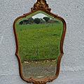 Miroir biseau en bois doré