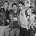 Mic des Sando, Chris, Olivier et Aurélie P