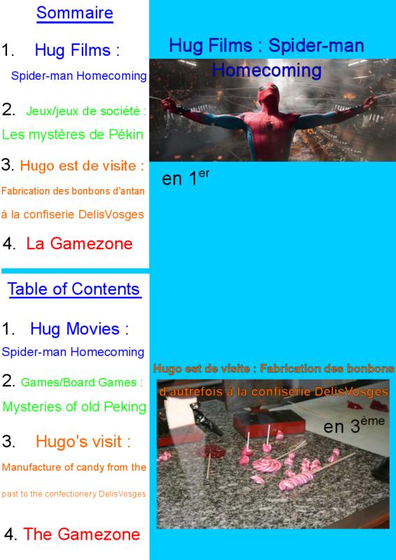 Sommaire Hug journal n°36