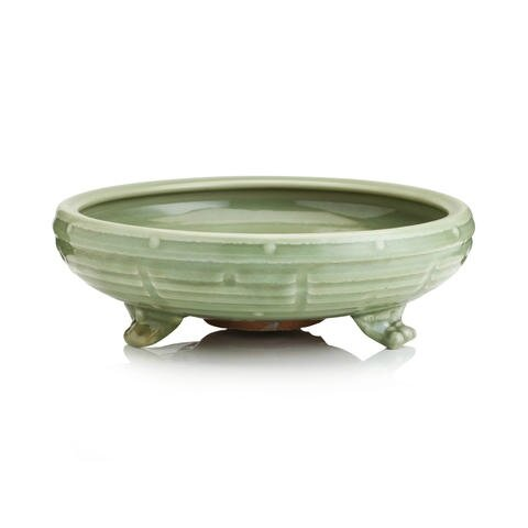 A Longquan celadon incense burner, Early Ming Dynasty. Photo Bonhams.