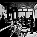 Linogravures : Cafés, bars