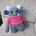 Test crochet - mini ogre...