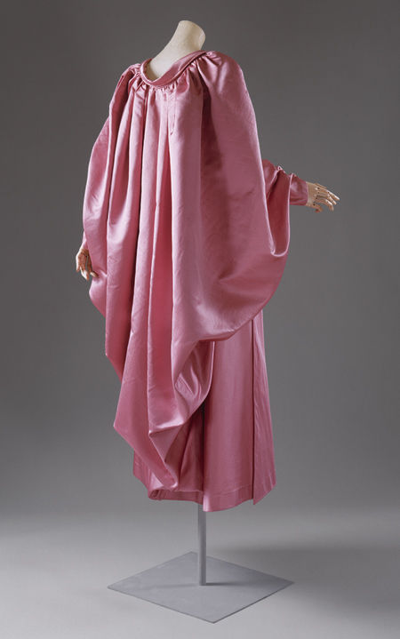Cristobal Balenciaga (Spanish, 1895–1972), Evening wrap, 1954–55. Pink silk faille. Gift of Baroness Philippe de Rothschild, 1973 (1973.21.3) © 2000–2013 The Metropolitan Museum of Art.